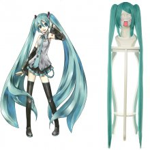 Rulercosplay Vocaloid Hatsune Miku Heat Resistant Fiber Green 120cm Cospaly Anime Wigs Wholesaler Re