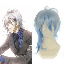 Rulercosplay AMNESIA Ikki Medium Blue Heat Resistant Fiber Anime Cosplay Wigs Wholesaler Resaler