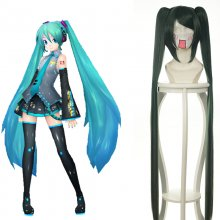 Rulercosplay Hatsune Miku Vocaloid Green Long Straight Heat Resistant Fiber 100cm Cosplay Anime Wigs