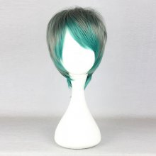 Rulercosplay Gothic Lolita Heat Resistant Fiber 32cm Short Green And Gray Lolita Wigs Wholesaler Res