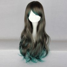Rulercosplay Gothic Lolita Heat Resistant Fiber 68cm Long Gray And Green Lolita Wigs Wholesaler Resa
