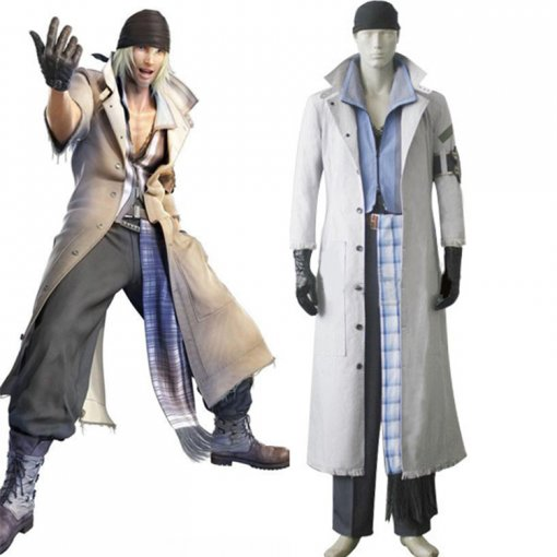 Rulercosplay Final Fantasy XIII Snow Villiers White Cosplay Costume Wholesaler Resaler