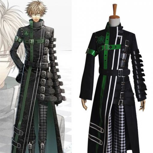 Rulercosplay AMNESIA Kent Cosplay Black Uniform Cloth Costume Wholesaler Resaler