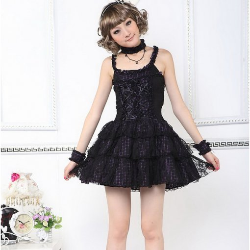 Knee-length Dress with Sling Princess Lace Lolita Dress