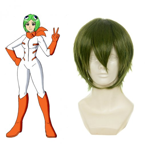 Rulercosplay Heat Resistant Fiber Inspired By Bleach Mashiro Kuna Short Green Anime Wigs Wholesaler