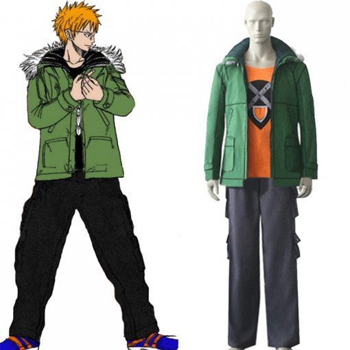Rulercosplay Fairy Tail Loke Loki Green Cosplay Costume(Without Pants) Wholesaler Resaler