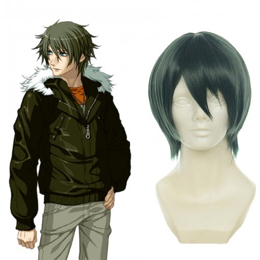 Rulercosplay Togainu No Chi Akira Short Dark Green Anime Cosplay Wigs Wholesaler Resaler