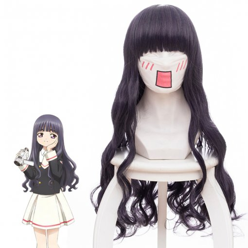 Rulercosplay Cardcaptor Sakura Daidouji Tomoyo Grey Purple Mixed Long Curly Anime Cosplay Wigs