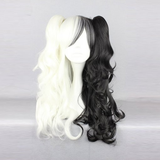 Rulercosplay Gothic Lolita Heat Resistant Fiber 65cm Long White And Black Lolita Wigs Wholesaler Res