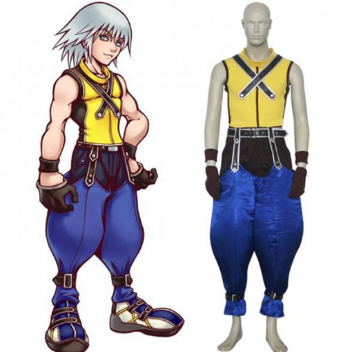 Rulercosplay Kingdom Hearts 1 Riku Yellow Cosplay Costume Wholesaler Resaler