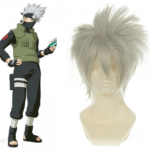 Rulercosplay Naruto Hatake Kakashi Short Silver Cosplay Anime Wigs Wholesaler Resaler