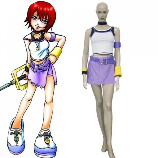 Rulercosplay Kingdom Hearts 1 Kairi Purple Cosplay Costume Wholesaler Resaler