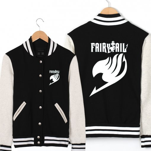 Fairy Tail Prints Cotton+Ployester Jacket Animation Product Anime Cosplay Costume