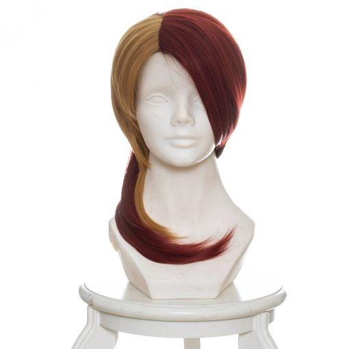 Rulercosplay Land of the Lustrous Doctor Rutile Yellow and Red Horsetail Anime Cosplay Wig