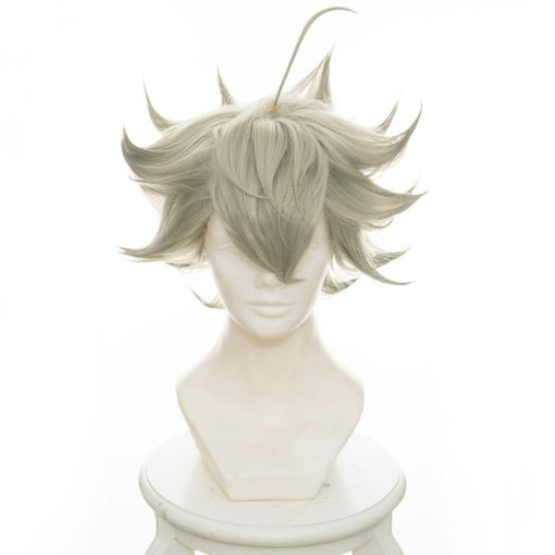 Rulercosplay 35 cm Short Black Clover Asta Green And Gray Ombre Anime Cosplay Wigs