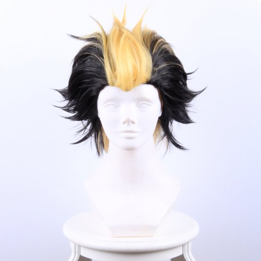 Rulercosplay  Blue Exorcist Suguro Ryuuji Black and Yellow Ombre Cosplay Short Wigs
