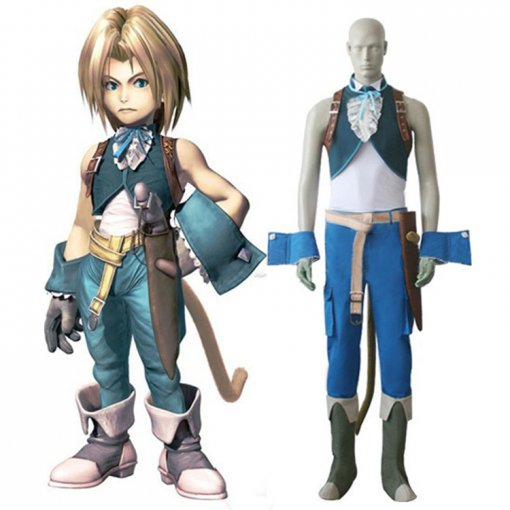 Rulercosplay Final Fantasy IX Zidane Tribal Blue Cosplay Costume Wholesaler Resaler