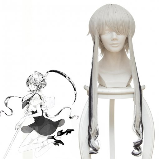 Rulercosplay Land of the Lustrous Ghost Crystal Ghost Short Silver White Anime Cosplay Wigs