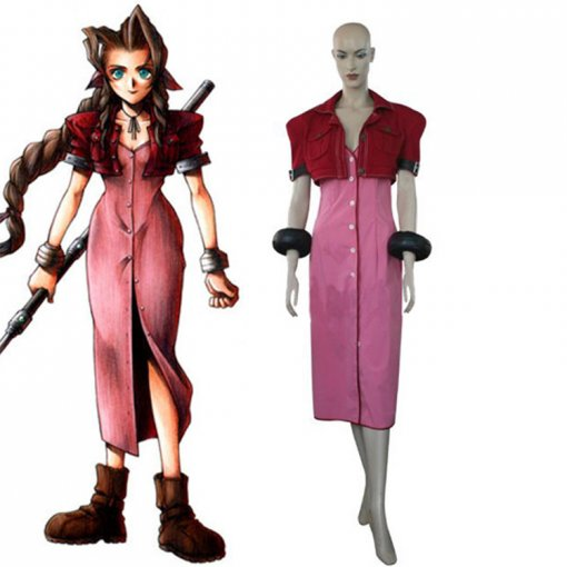 Rulercosplay Final Fantasy VII Aerith Pink Cosplay Costume Wholesaler Resaler