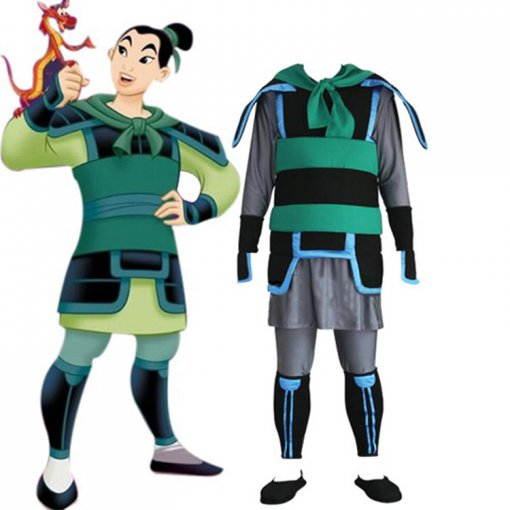 Rulercosplay Kingdom Hearts 2 Mulan Green Cosplay Costume Wholesaler Resaler