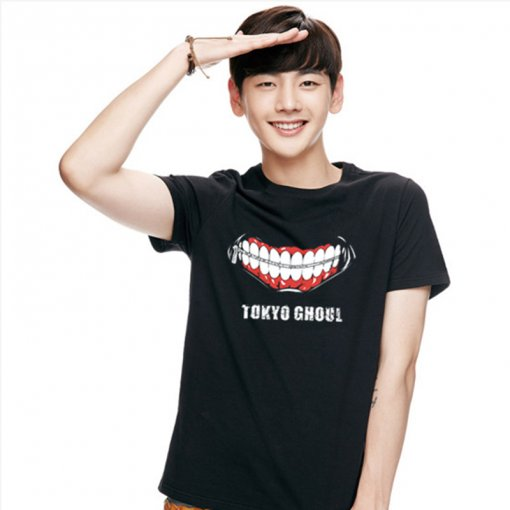Tokyo Ghoul Fashion Cotton Black Animation T-shirt