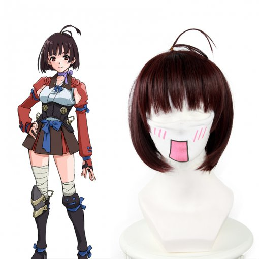 Rulercosplay Kabaneri Of The Iron Fortress Mumei Short Wine Red Cosplay Wigs Wholesaler Resaler