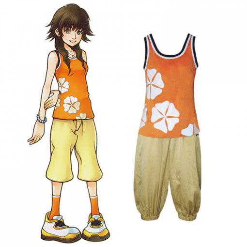 Rulercosplay Anime Kingdom Hearts 2 Olette Orange Cosplay Costume Wholesaler Resaler