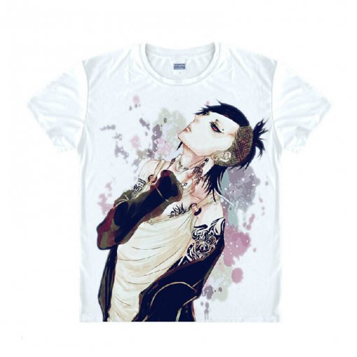 Tokyo Ghoul Fashion Animation White Smooth Decron T-shirt 034 More Patterns