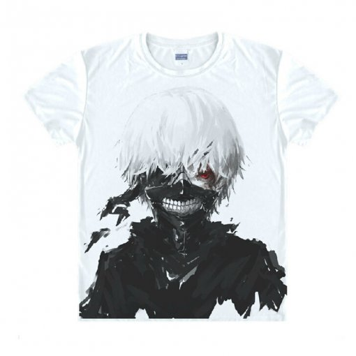 Tokyo Ghoul Fashion Animation White Smooth Decron T-shirt 016 More Patterns