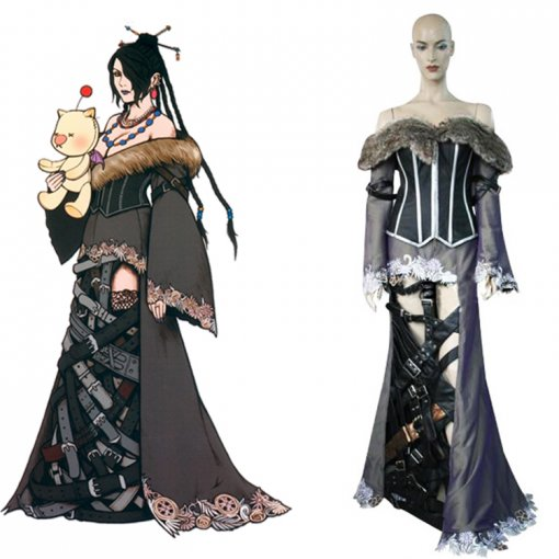 Rulercosplay Final Fantasy X Lulu Black Cosplay Costume Wholesaler Resaler