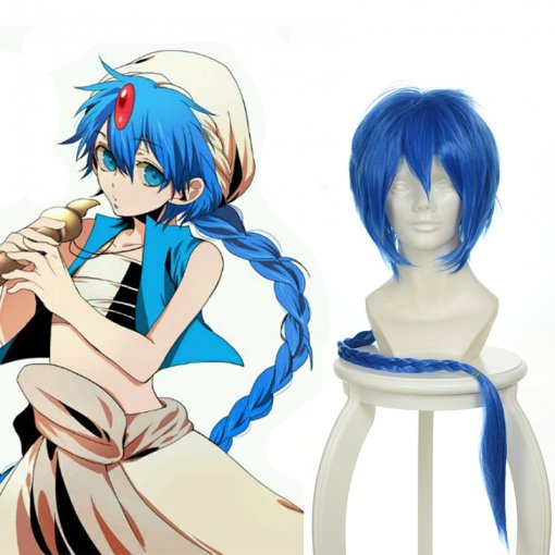 Long Braid MAGI Aladdiny Blue Anime Cosplay Wigs Wholesaler Resaler