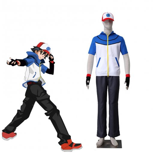 Rulercosplay Pokemon Go Ash Ketchum Blue Uniform Cloth Cosplay Costume Wholesaler Reseller