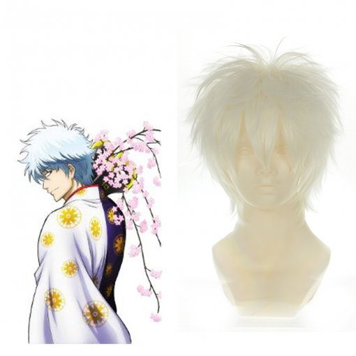 Rulercosplay Gintama Gintoki Sakata Short White Cosplay Anime Wigs Wholesaler Resaler