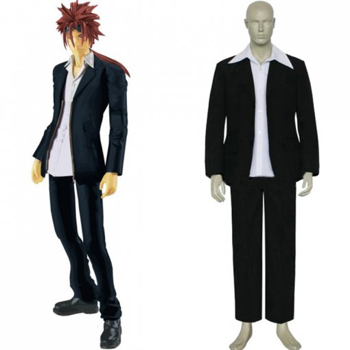 Rulercosplay Final Fantasy VII Reno Black Cosplay Costume Wholesaler Resaler