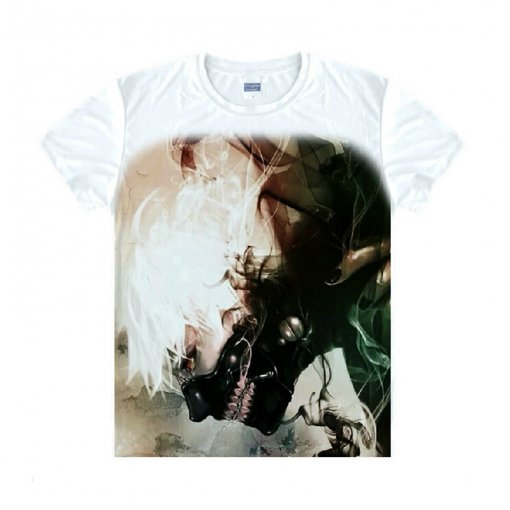 Tokyo Ghoul Fashion Animation White Smooth Decron T-shirt 035 More Patterns