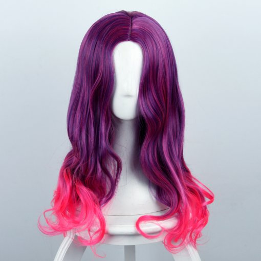 Rulercosplay Guardians of the Galaxy Gamora Purple and Bright Pink Ombre Anime Cosplay Wigs