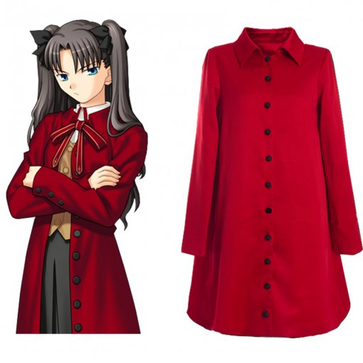 Rulercosplay Fate Stay Night Rin Tohsaka Red Uniform Cloth Cosplay Costume Wholesaler Resaler