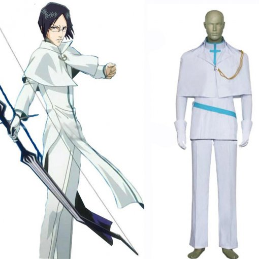Rulercosplay Bleach Uryuu Ishida Cosplay White Costume Anime Products Wholesaler Resaler