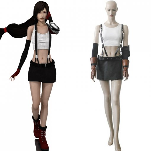 Rulercosplay Final Fantasy VII Tifa Lockhart White Cosplay Costume Wholesaler Resaler