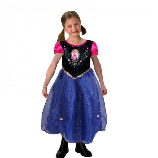 Movie Frozen Cosplay Costume Children Cosplay Dress