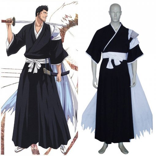 Rulercosplay Bleach Isshin Kurosaki Black Cosplay Costume Wholesaler Resaler