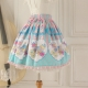 Sweet Lolita Knee-length Cake Party Print Cotton Skirt Lolita Fashion