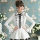 Asymmetric Puff Long Sleeves POLO Collar Stripy Princess Sweet Lolita Blouse
