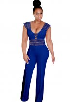 Blue Sleeveless Lace Jumpsuit ZS-064