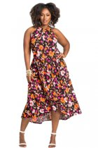 Plus Size Print Dress OSM-5200