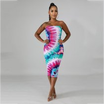 Sexy Strapless Off Shoulder Bodycon Midi Dresses AWN-5037