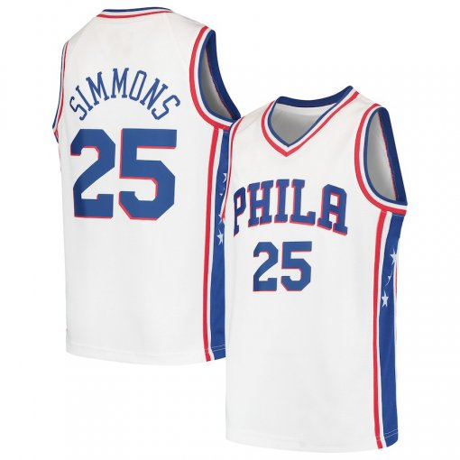 c0c84400 Star Basketball Jersey Ben Simmons jersey White 2019 sell