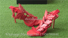 Giuseppe Zanotti Patent Winged Sandal Red High Heels