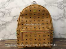 MCM Stark Large Side Stud Backpack Tan