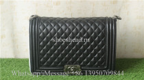 Chanel Boy Bag With Quilted Chevron Flap